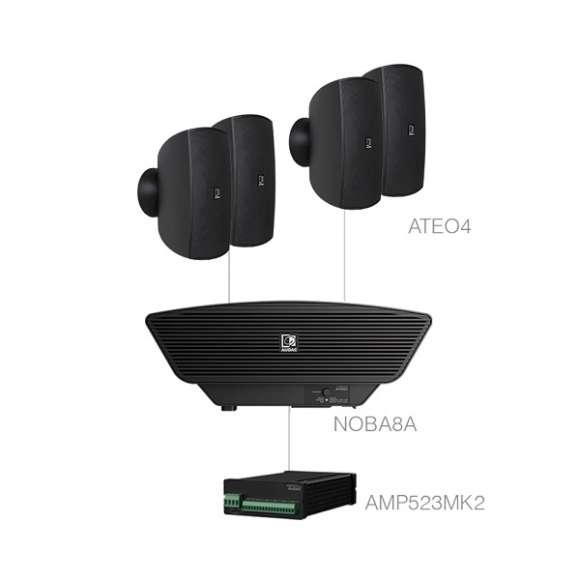 Sistem Audio 4 Difuzoare De Perete + Amplificator Si Subwoofer Audac SONA4.5+