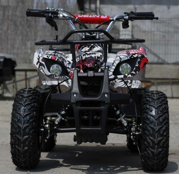 Mini ATV Electric Pentru Copii NITRO Torino Quad Grafiti 1000W 48V Alb Nou