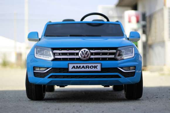 Masinuta Electrica Pentru Copii VW Amarok Pickup Blue Nou