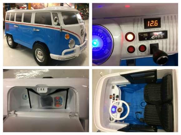 Masinuta Electrica Pentru Copii VW Samba Bus Blue Nou