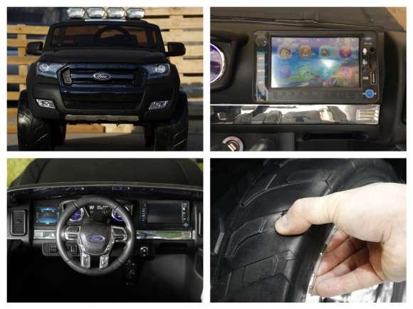 Masinuta Electrica Pentru Copii Ford Ranger 4x4 Cu LCD Video/Audio Negru Matt Nou
