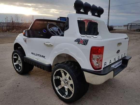 Masinuta Electrica Pentru Copii Ford Ranger F150 Alb Nou