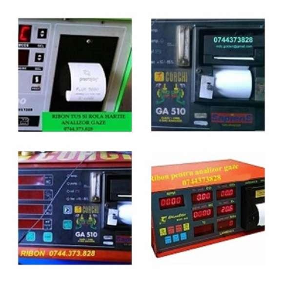 Riboane Tus Si Role Hartie Analizoare De Gaze Protech, AVL DiSmoke,Flux 5000, Gorchi GA 510, Eurogas 8020,Opus 40 B.