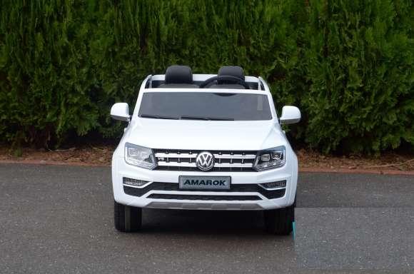 Masinuta Electrica Pentru Copii VW Amarok Pickup Alb Nou