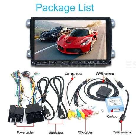 "Navigatie 9"" + CAMERA / VW / SKODA / SEAT / Android 9.0 / GPS / USB /"