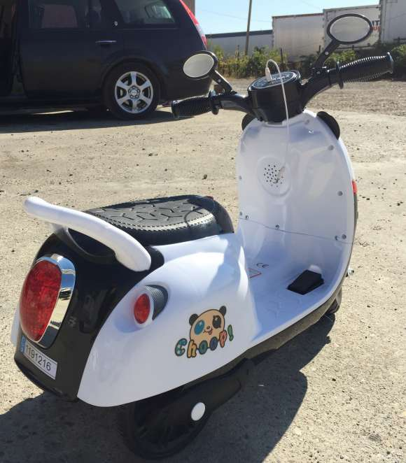 Tricicleta Electric PANDA, Scuter Electric Pentru Copii 20W 6V Alb Nou