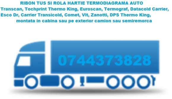 Banda Tus Si Rola Hartie Termoimprimanta Thermo King, Euroscan, Transcan, DataCold Carrier Cu Livrare Rapida.