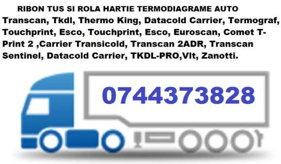 Casete Tusate Si Role Hartie Termodiagrame Frigorifice Tip ThermoKing, Transcan, EuroScan, DataCold, FrigoTrans.