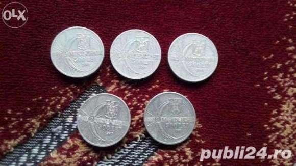 Vand 5 Monede 500 Lei Eclipsa Totala De Soare An 1999 20 Lei Bucata