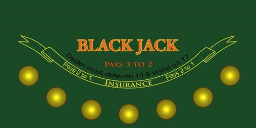 Blackjack Casino Gaming Table Felt Layout Quality Sublimation Print  sc 1 st  eBay & Blackjack Casino Gaming Table Felt Layout Quality Sublimation Print ...