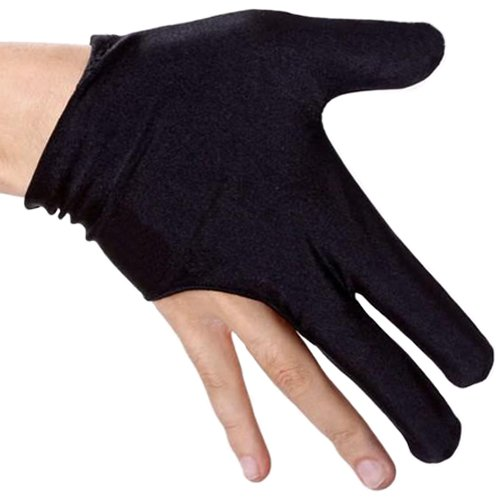 XL Gloves Full Fingers Breathable Washable Sm Black Pro Series Pool Cue 2
