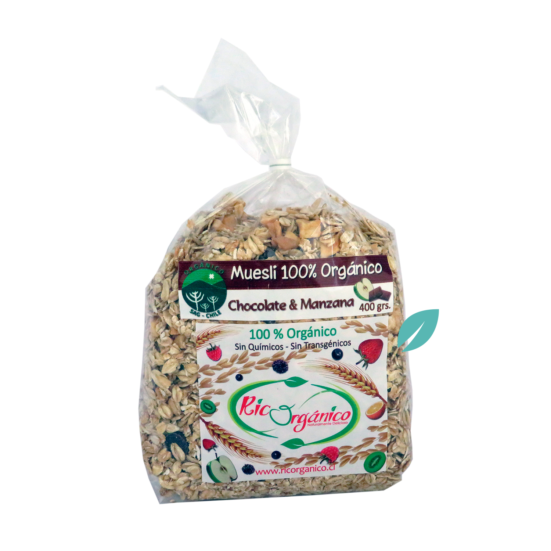 Muesli Organico Chocolate Manzana 400 grs