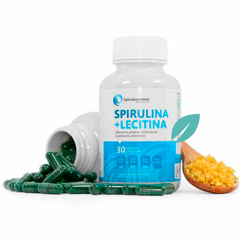 Spirulina + lecitina en capsulas