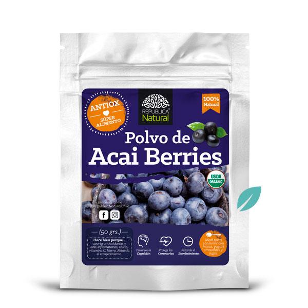 Polvo Organico Açai Berries 50 grs