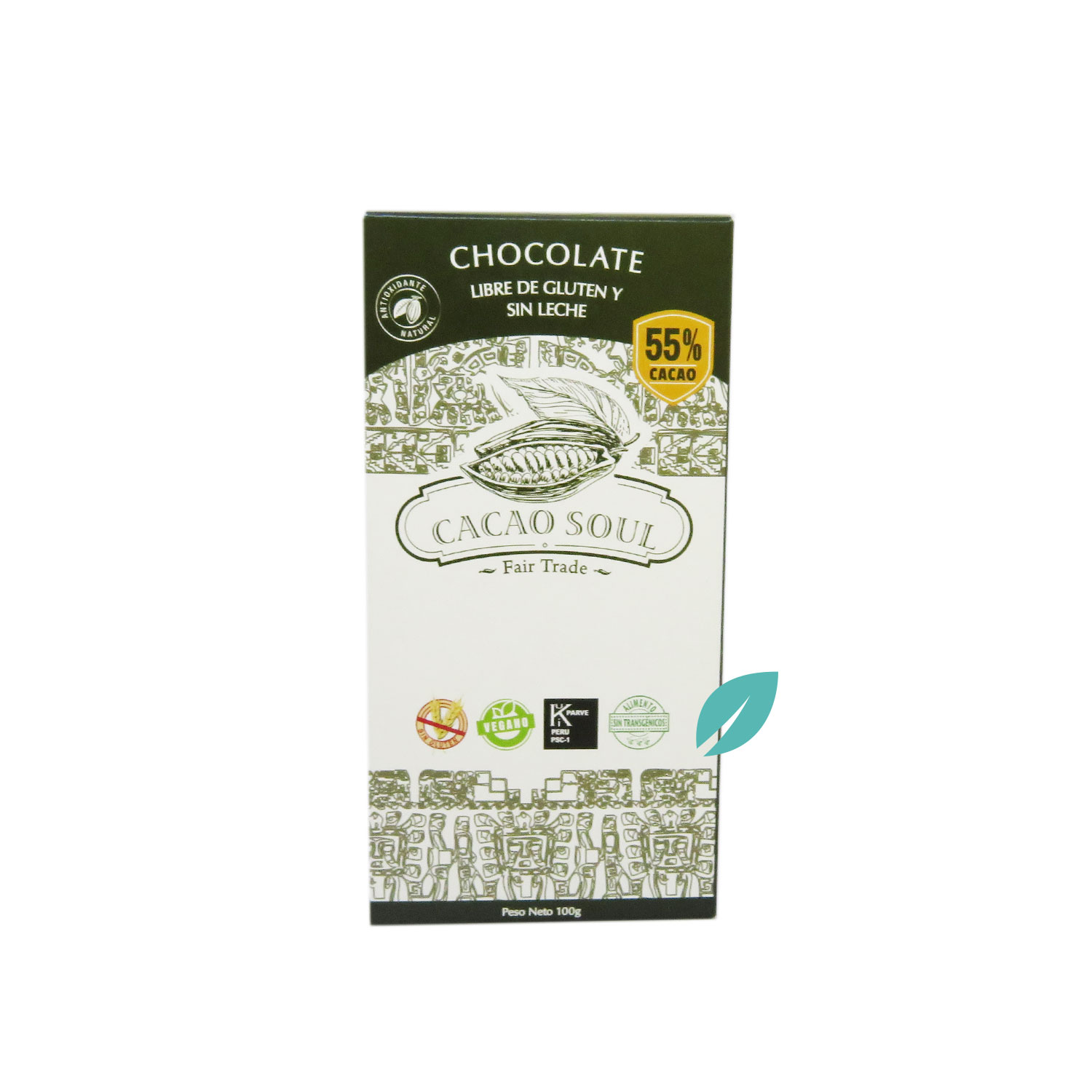 Chocolate en barra 55% cacao 100 grs