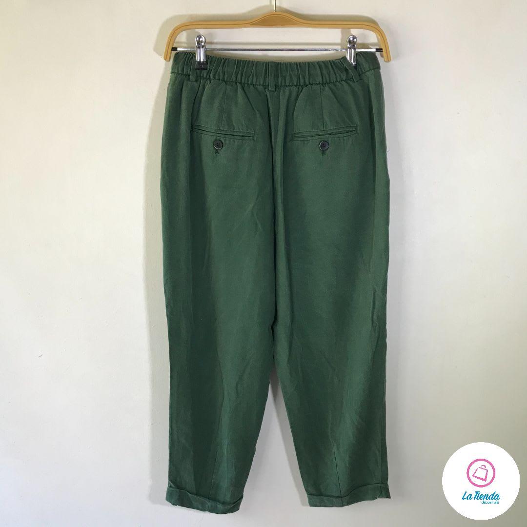 Pantalon Zara Suellto Largo 3 4 Y Pinzas De Mujer La Tienda Solidaria