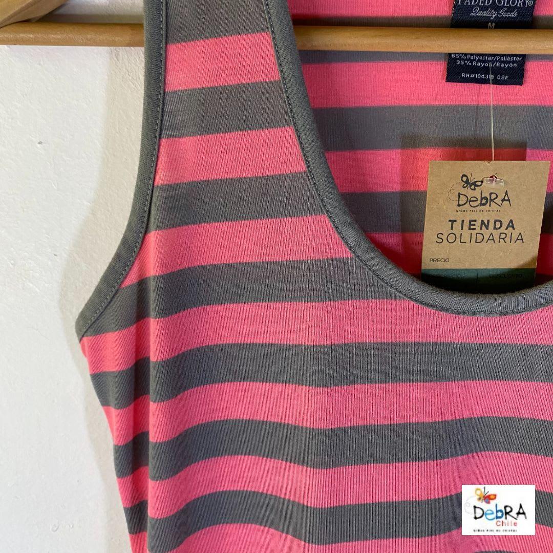 Vestido Faded Glory Largo Con Rayas Color Sandia De Mujer M La Tienda Solidaria