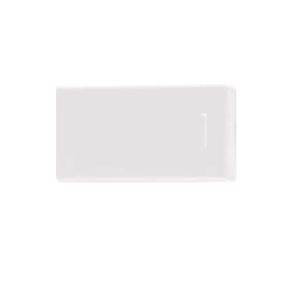 5 piezas tap/ón para tubo rectangular 60x20 mm blanco pl/ástico tap/ón capuch/ón