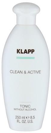 Klapp Clean & Active Tonic w/o Alcohol 250 ml