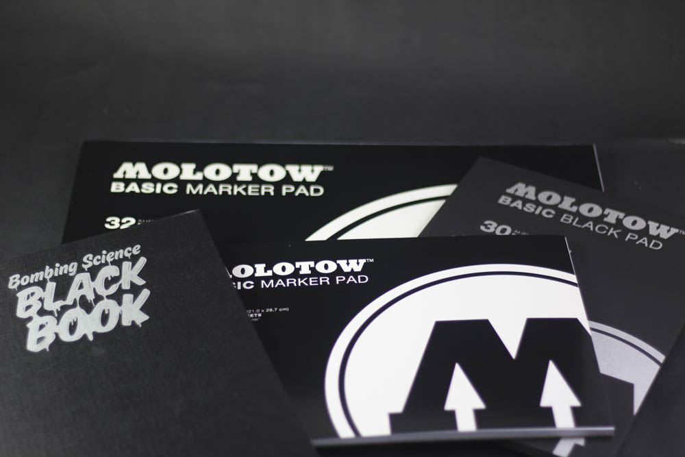Product review: Bombing Science Blackbook, Molotow Black Book & Marker Pads