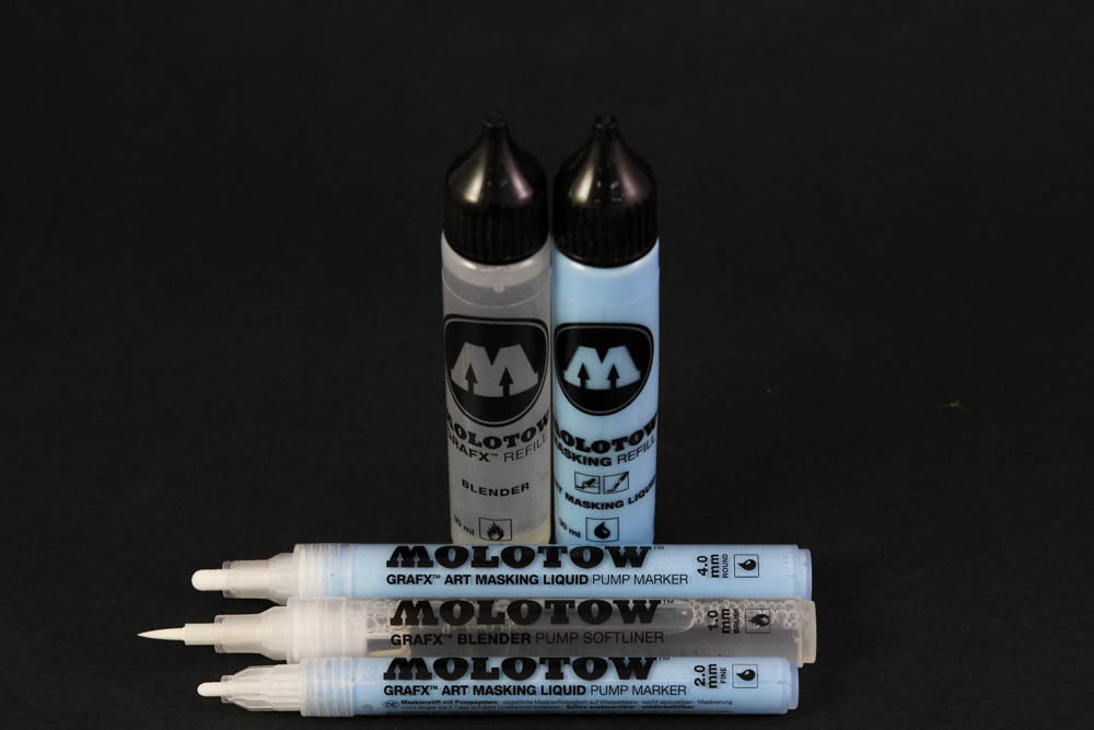 Product Review: Molotow Masking Markers & Blender + Refill