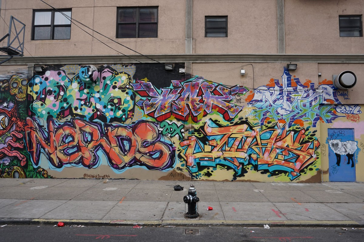 BUSHWICK: Piece in the streets