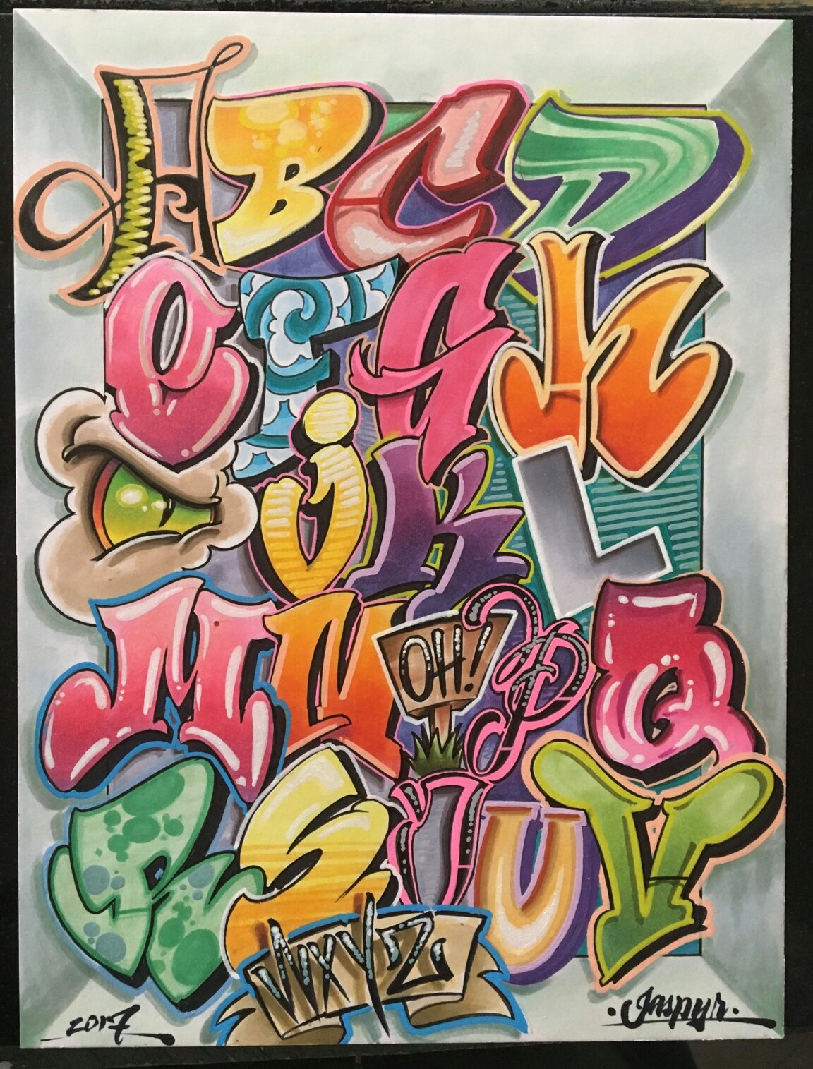 Graffiti alphabet 26 letters of style 2 bombing science - Alphabet graffity ...