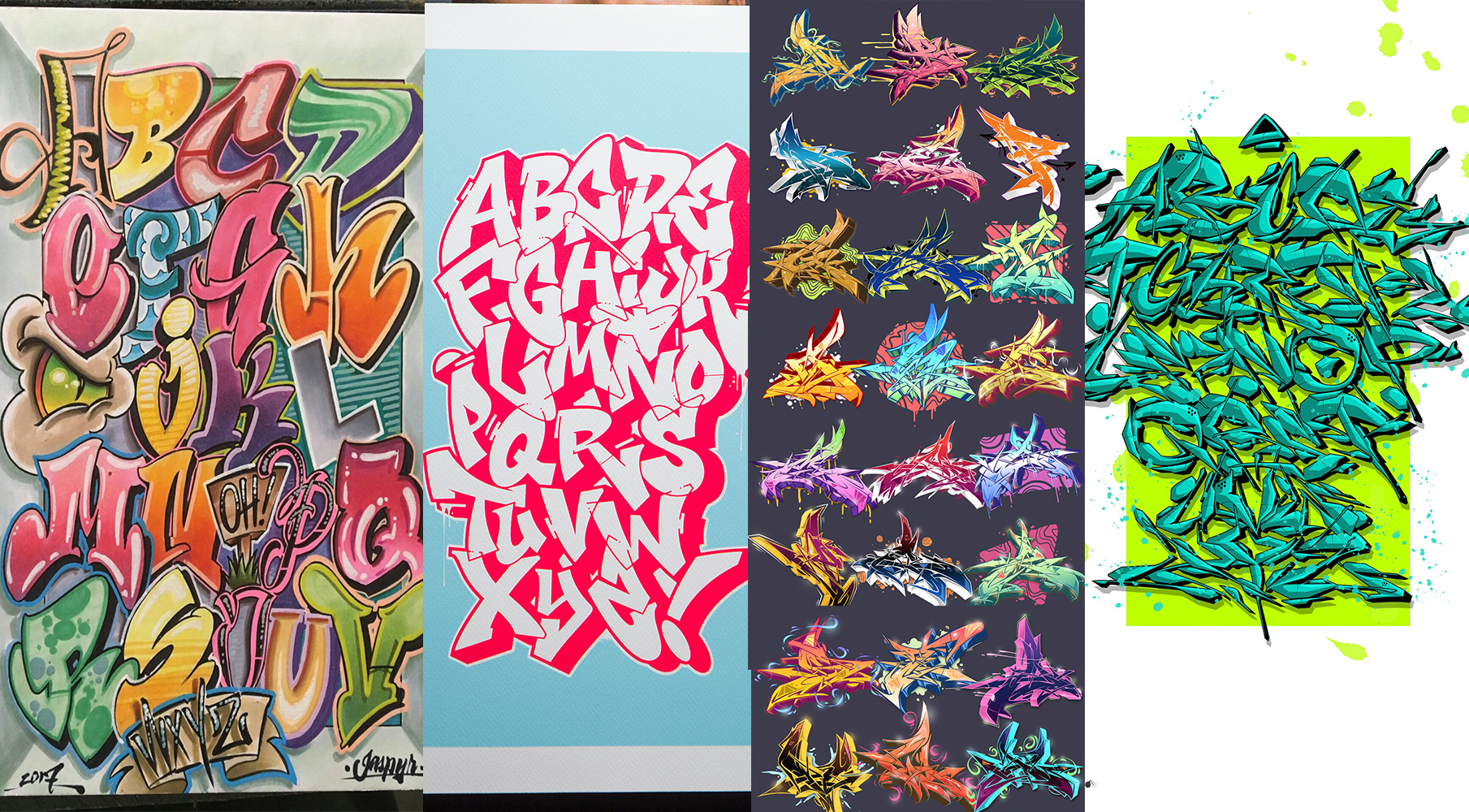 graffiti alphabet 26 letters of style 2 bombing science