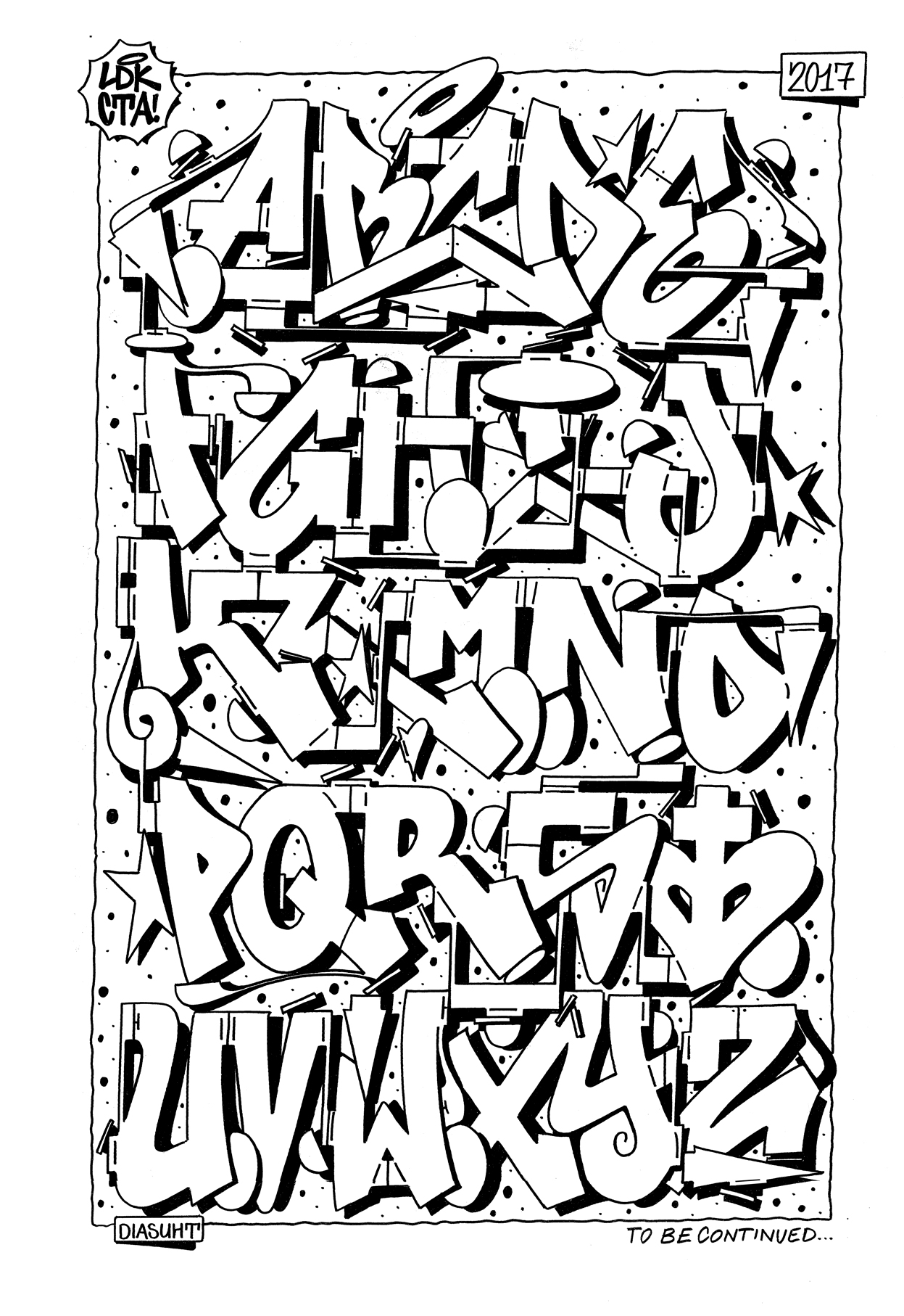26 letters of style 5 graffiti alphabet bombing science