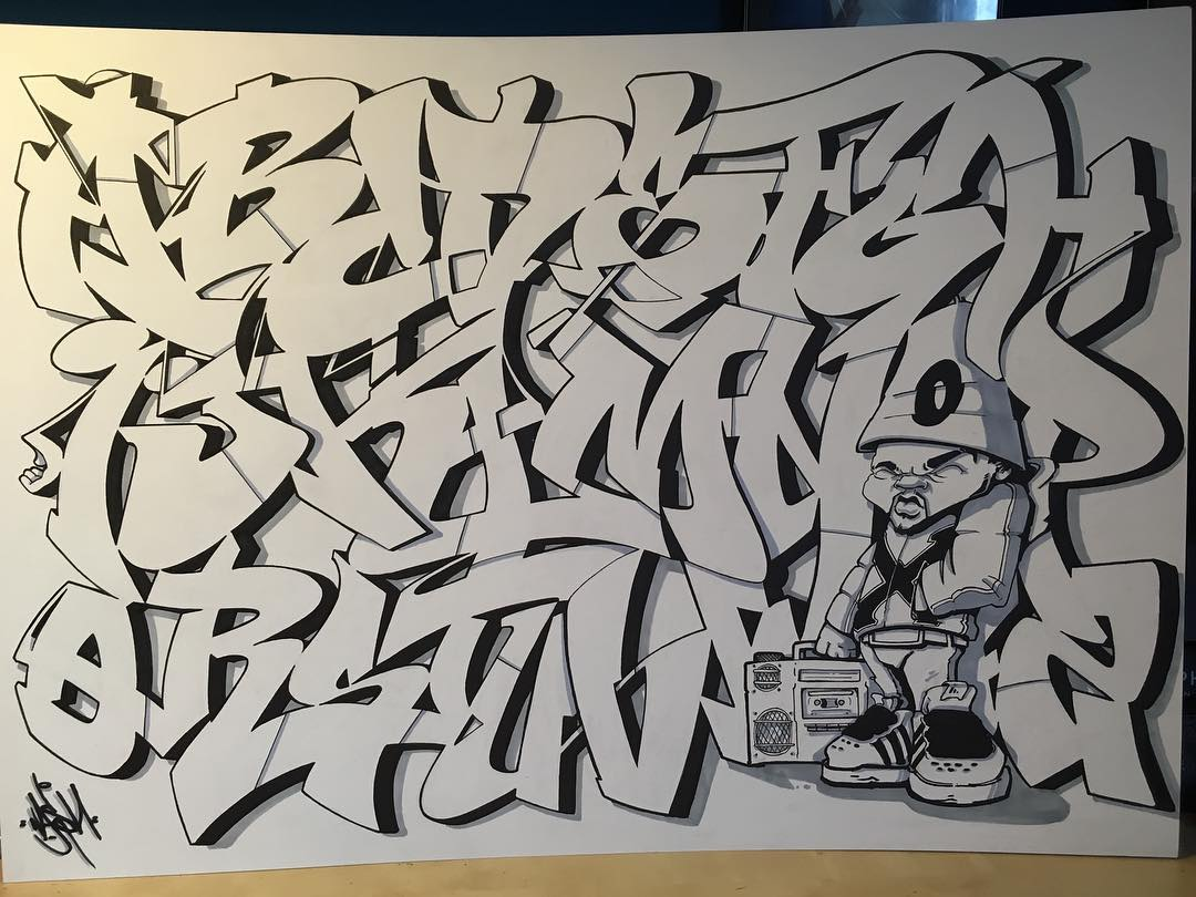 26 letters of style 7 graffiti alphabet bombing science