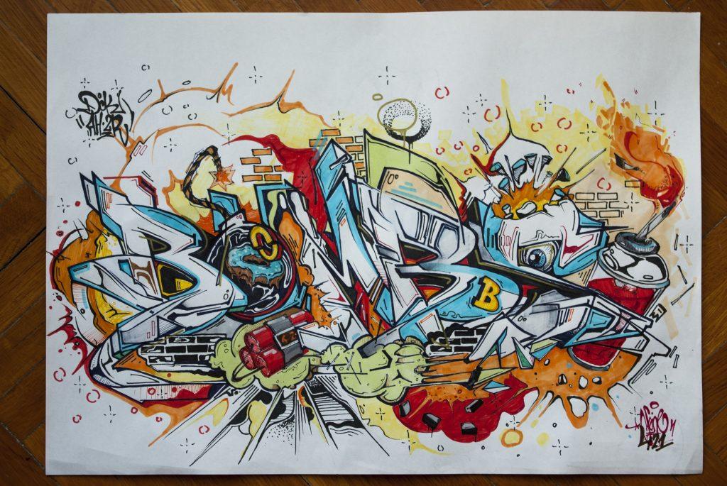 20 Awesome Graffiti Sketches the Art of Graffiti Sketching