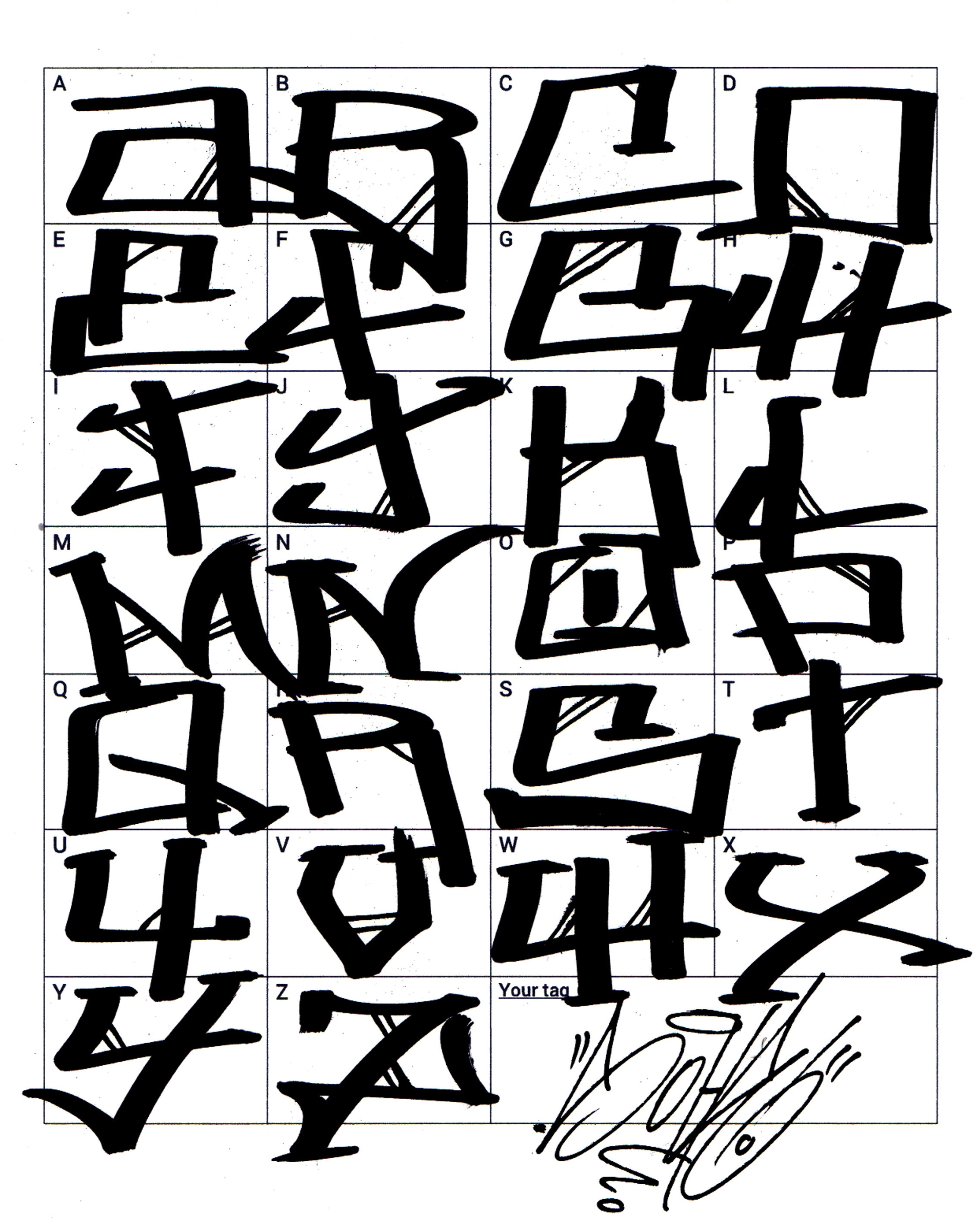 To inspire you and to give you examples of some really different graffiti letters ranging from the simply straight letters graffiti fonts inspired