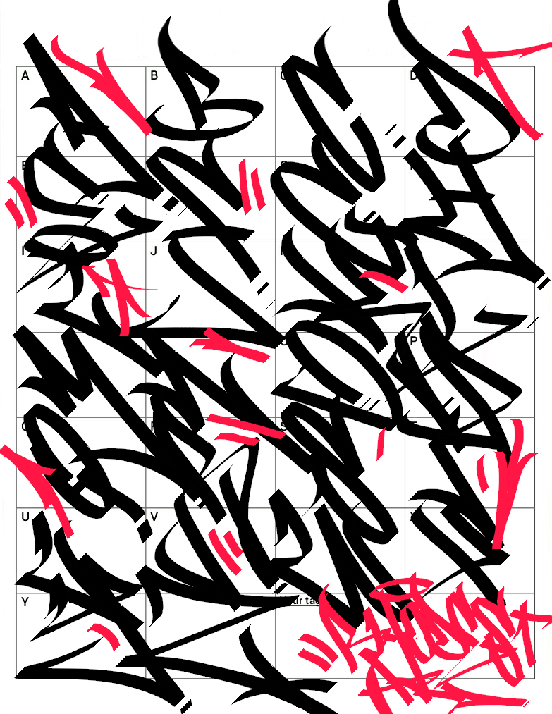 Letter W Graffiti