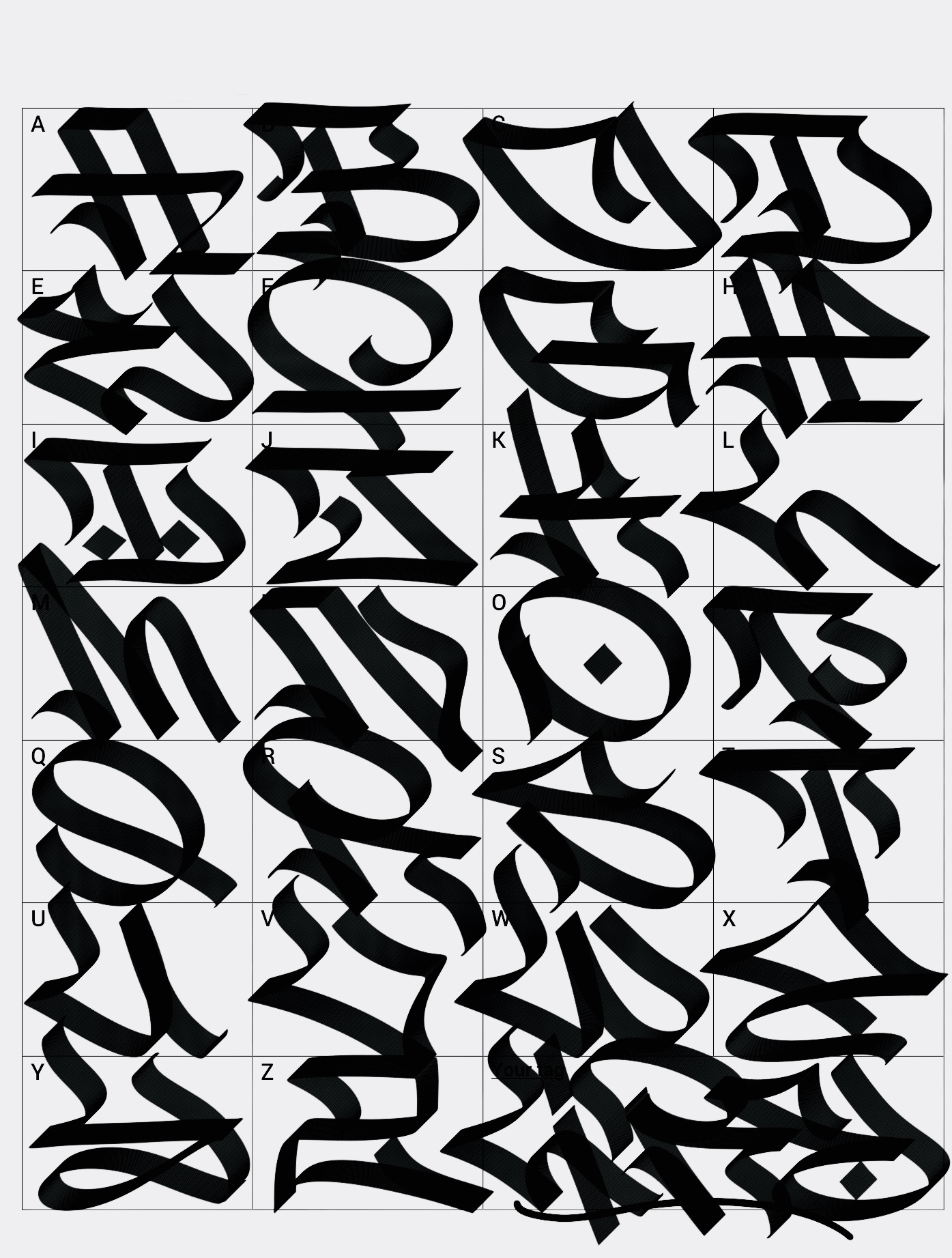 Ranging from the simply straight letters graffiti fonts inspired to the gothic and calligraffiti styles