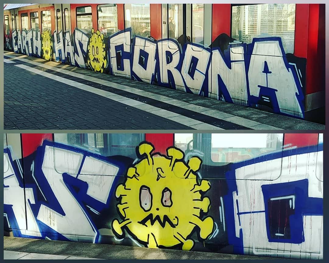 Graffiti Video; Earth Has Corona
