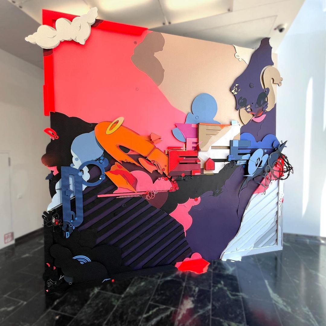 Graffiti Video: DOES - World's Largest Graffiti Style Collage