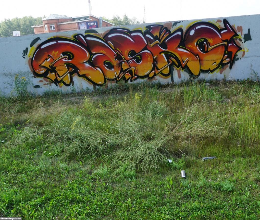 Sticker wall graffiti - Rasko Moscow Walls