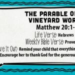 Week of July 31—The Parable of the Vineyard Workers—Social Media Plan