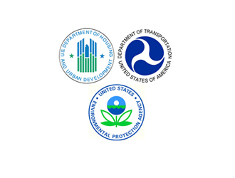Logos from Department of Housing and Urban Development, Department of Transportation, and Environmental Protection Agency