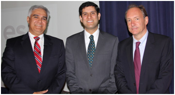 Sanjeev Bhagowalia with U.S. Government Chief Information Officer Mr. Vivek Kundra and World Wide Web inventor Sir Tim Berners-Lee at the IOGDC