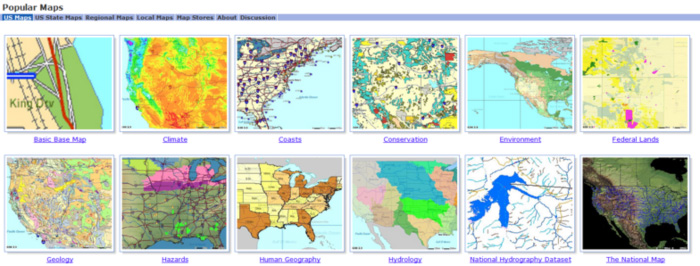 popular maps from geodata.gov