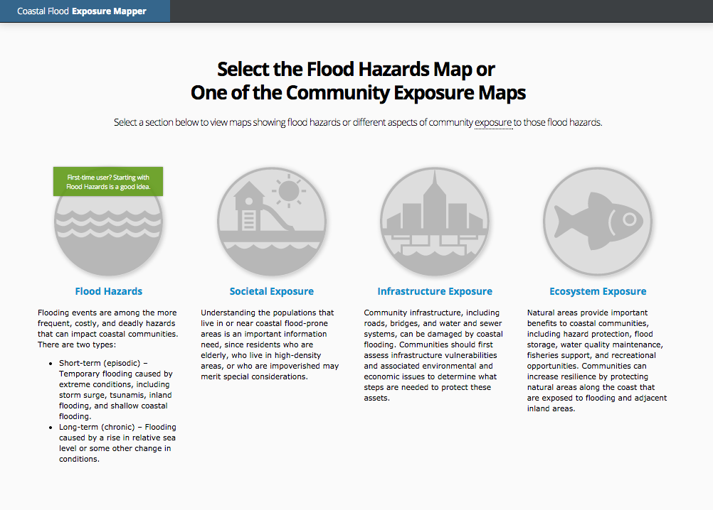 Coastal Flood Exposure Mapper