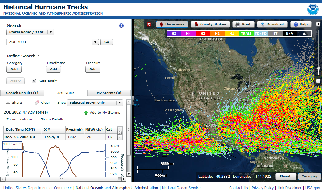 Tools data historical hurricane tracks tool gumiabroncs Image collections