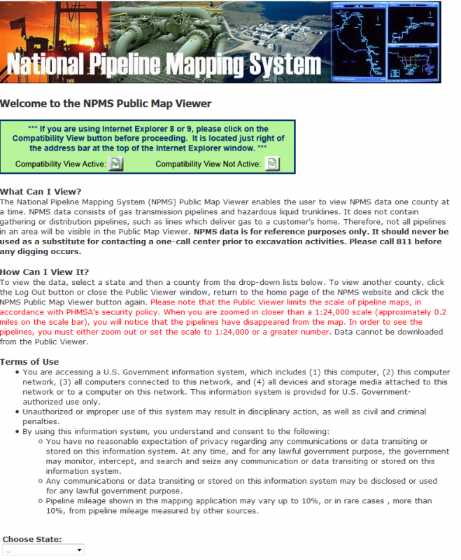 National Pipeline Mapping System Public Viewer