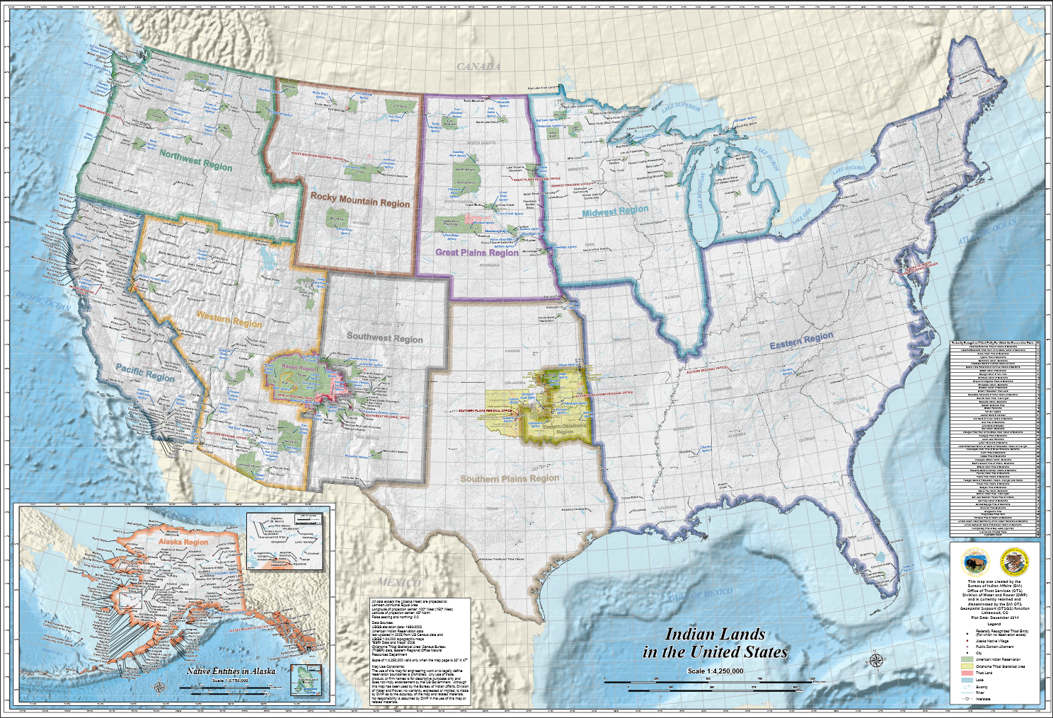 Map Of Indian Reservations Tribal Nations Maps   Data.gov