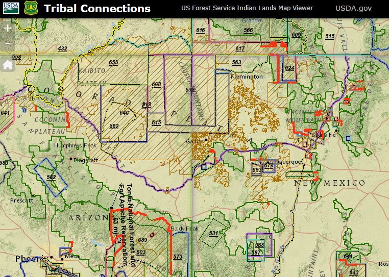 USFS Tribal Connections - US Forest Service Indian Lands Map Viewer