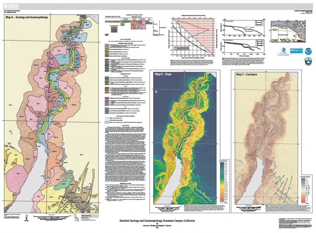 Detailed Geology and Geomorphology, Hueneme Canyon, California. U.S. Geological Survey.