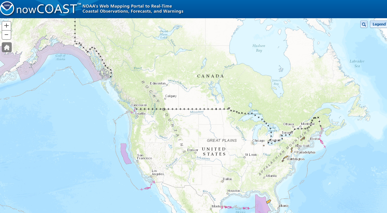 NOAA's nowCOAST Web Mapping Portal to Near-Real-Time Coastal Information
