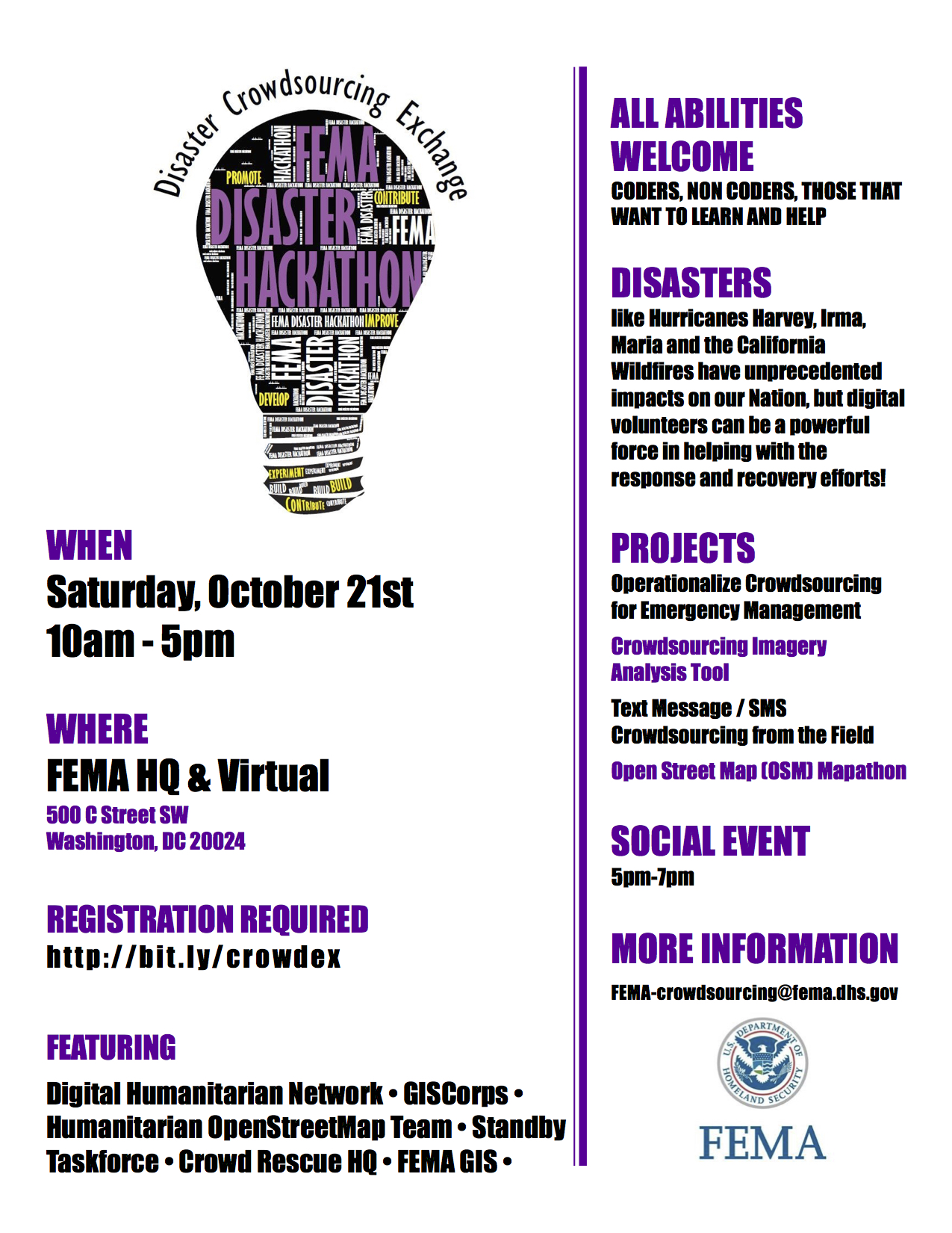 FEMA Disaster Crowdsourcing Exchange image