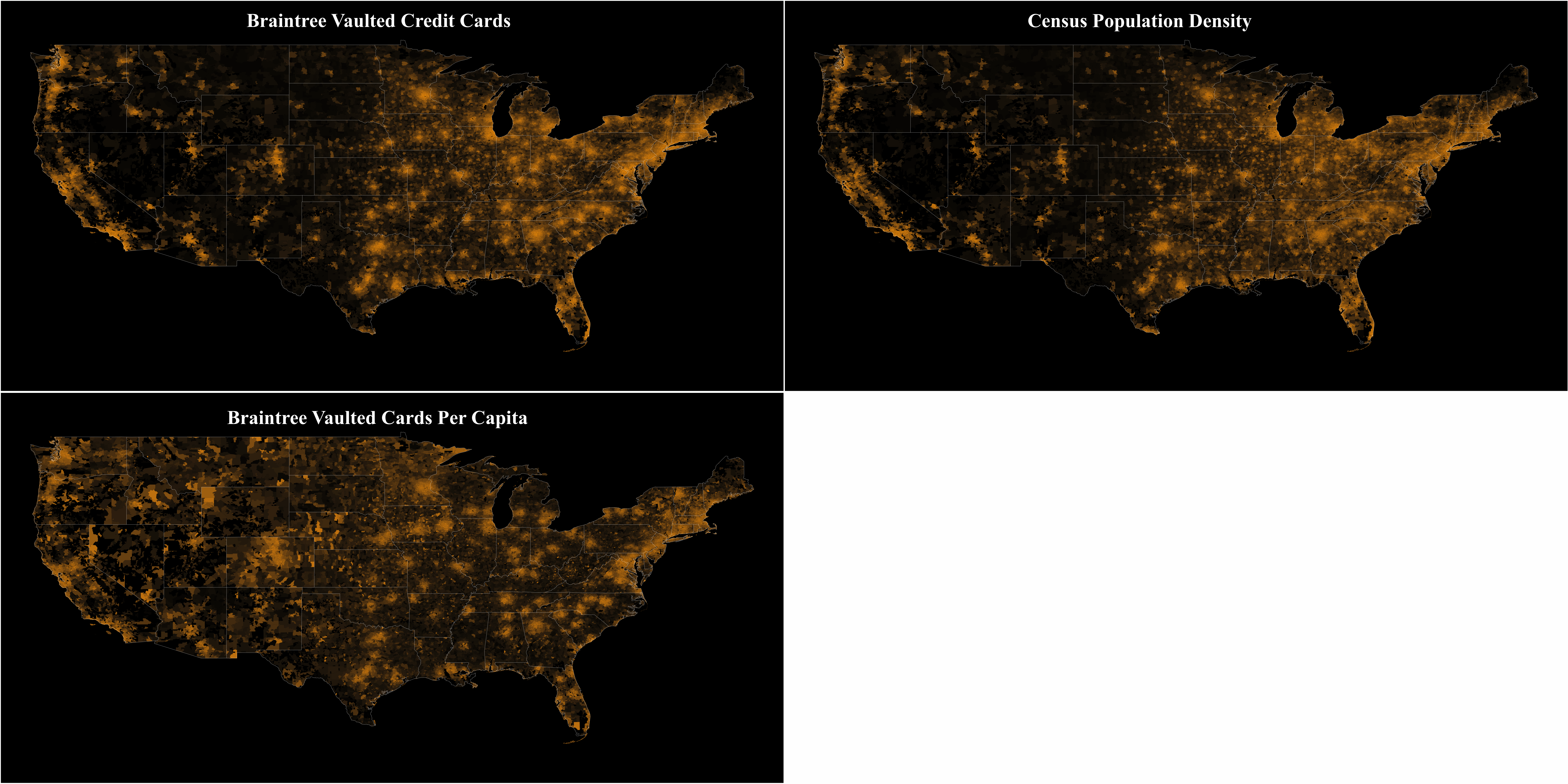 Mapping Million Credit Cards On Top Of Census Data With R - Map of the us gis r choropleth